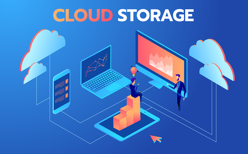 Storing data on the cloud.